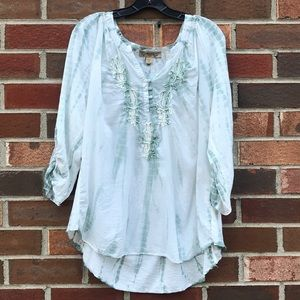 Vintage America Blues embroidered blouse Sz XL